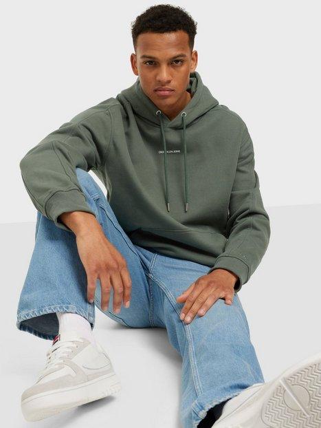Calvin Klein Jeans Micro Branding Hoodie Trøjer Green