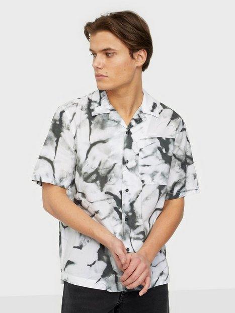 Calvin Klein Jeans Aop Seasonal Ss Shirt Skjorter Grey