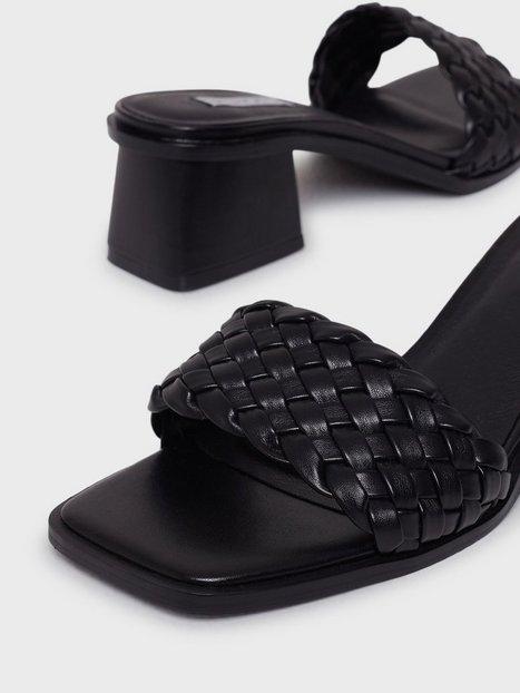 NLY Shoes Braided Slip In Sandal Low Heel Black