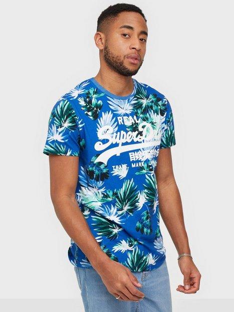 Superdry Vl Aop Tee T-shirts & undertrøjer Blue