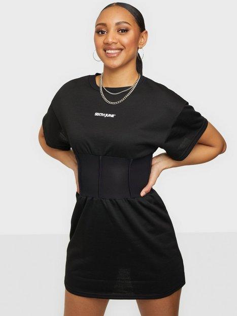 Sixth June Essential Corset Dress Skater kjoler Black