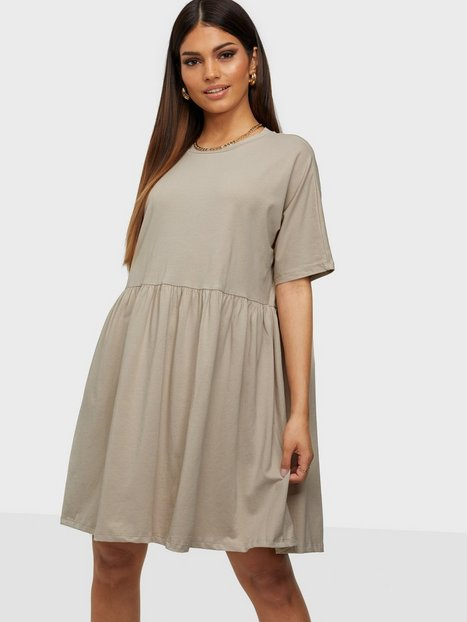 Noisy May Nmkerry S/S Short Dress Bg Noos Loose fit dresses Chateau Gray