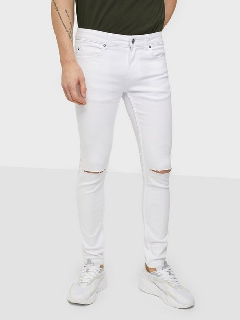Only & Sons Onswarp Life Crop Knee Cut White Pk Jeans White Denim