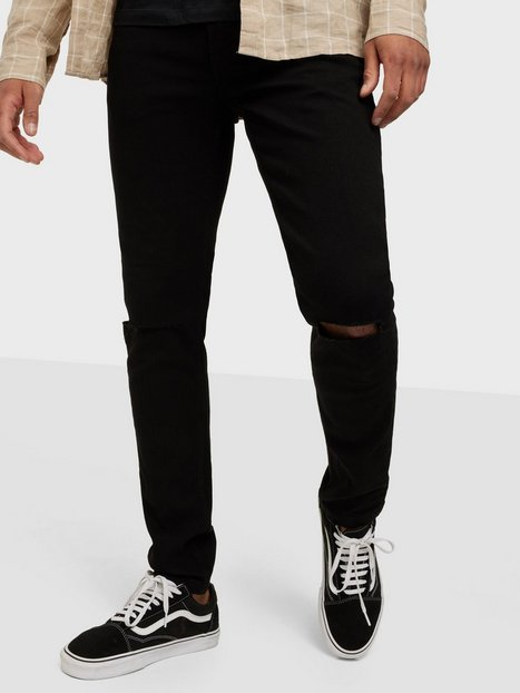 Only & Sons Onswarp Life Black Knee Cut Pk 957 Jeans Black Denim