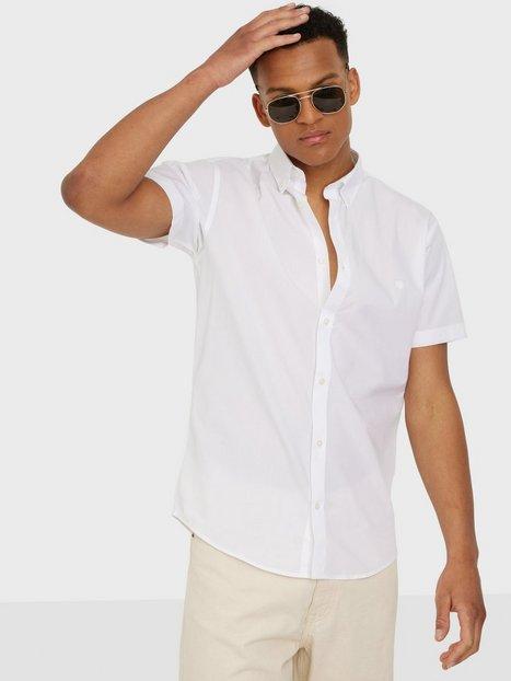 Jack & Jones Jprblalogo Spring Shirt S/S Skjorter White Slim Fit