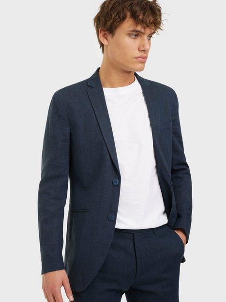 Jack & Jones Jprray Linen Blazer Blazere & jakkesæt Dark Navy Super Slim Fit