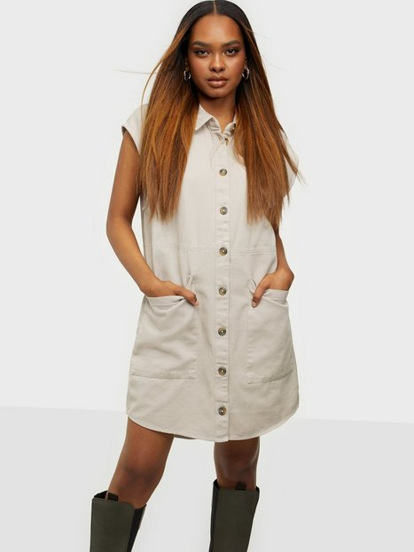 Noisy May Nmalma Capsleeve Dress Noos Loose fit dresses Chateau Gray