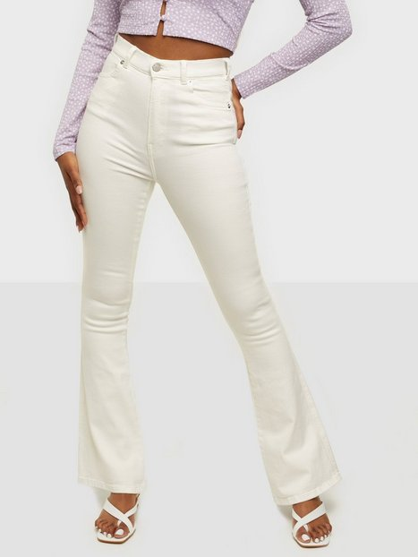 Dr Denim Moxy Flare High waisted jeans White