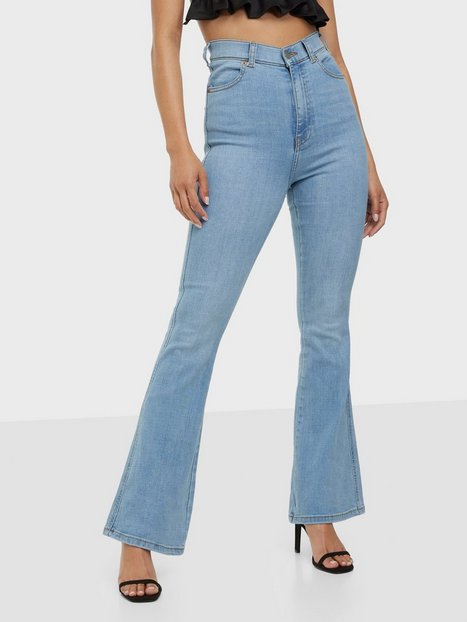Dr Denim Moxy Flare High waisted jeans Light Blue