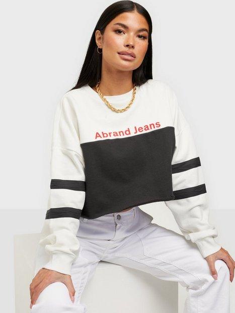Abrand Jeans A Oversized Crop Swe Sweatshirts