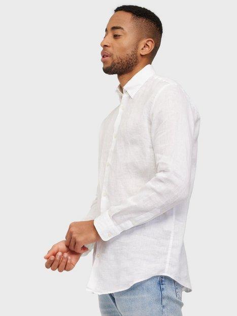 Selected Homme Slhregrex-Antique Shirt Ls B Skjorter White