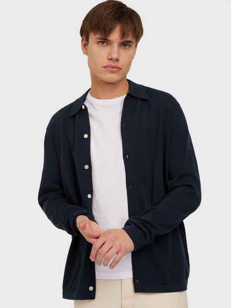 Selected Homme Slhkygo Knit Cardigan B Skjorter Dark Sapphire