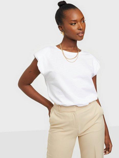 Only Onlpernille Shoulder T-Shirt Jrs Hverdagsbluser White