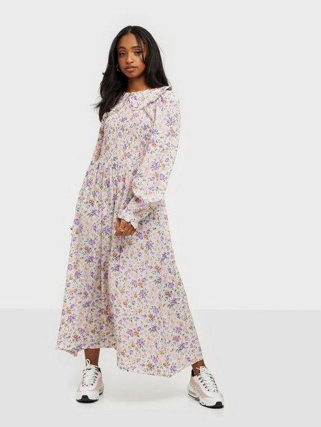 Pieces Pclauri Ls Midi Dress D2D Bc Loose fit dresses Cloud Dancer Flowers