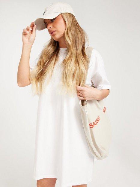 Pieces Pcria Ss Dress Noos Bc Loose fit dresses Bright White