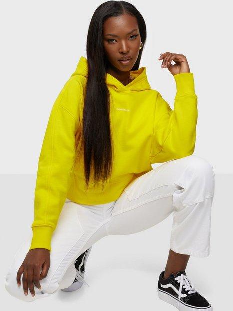 Calvin Klein Jeans Micro Branding Hoodie Hoodies Yellow