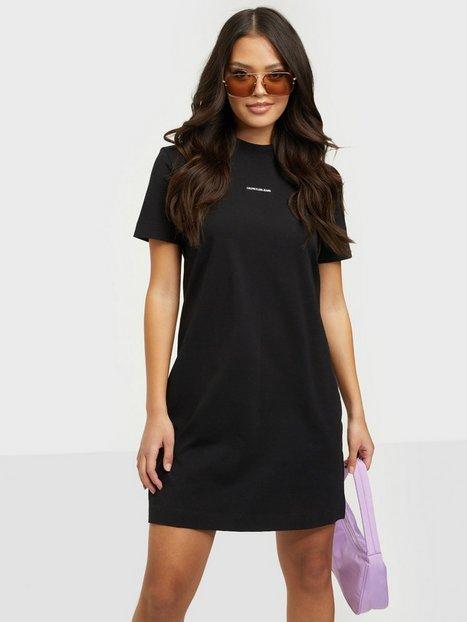 Calvin Klein Jeans Micro Branding T-Shirt Dress Kjoler Black