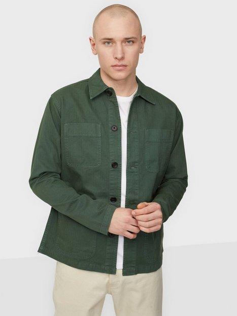 Selected Homme Slhloosetony Overshirt Ls W Noos Skjorter Darkest Spruce