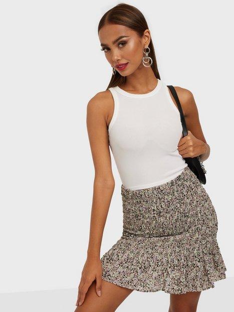 Vero Moda Vmhollo H/W Smock Skirt Vip Ga Mini nederdele Black Hollo