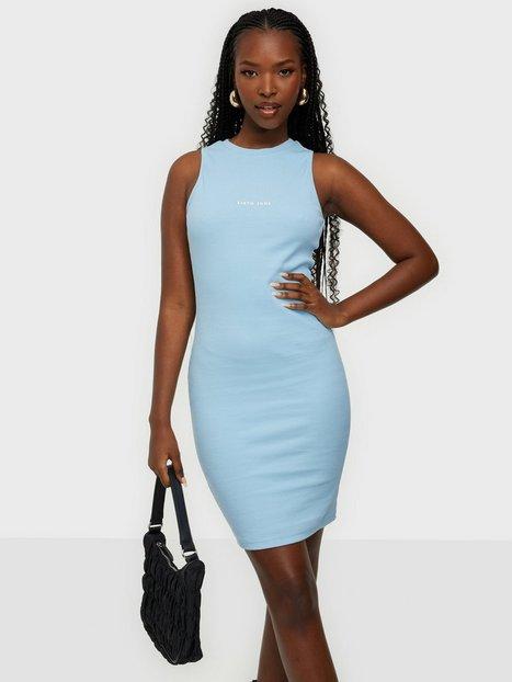 Sixth June Dress Rib Essential Tætsiddende kjoler Blue