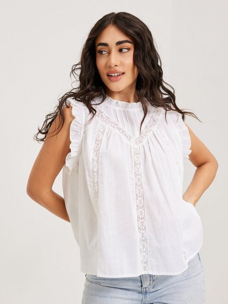 Co'couture Lola Linen Frill Top Toppe