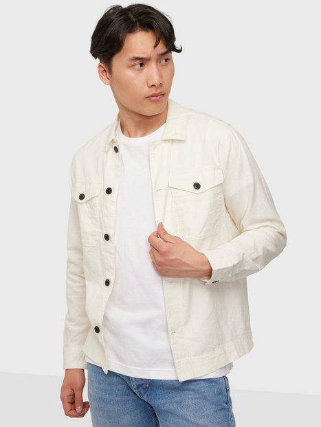 Jack & Jones Jprblalinen Overshirt L/S Skjorter Egret Comfort Fit