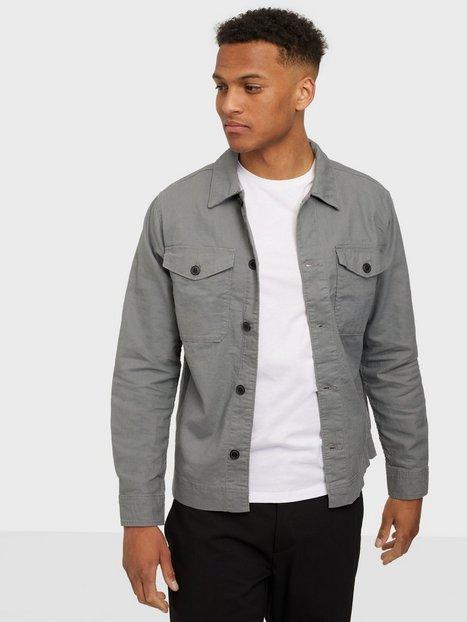 Se Jack & Jones Jprblalinen Overshirt L/S Skjorter Sedona Sage Comfort Fit ved NLY Man
