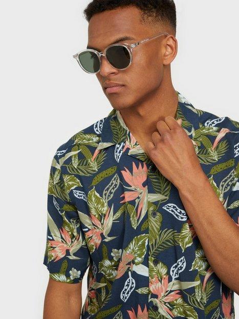 Only & Sons Onsklopp Life Ss Aop Viscose Shirt Skjorter Dress Blues