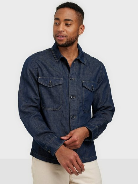 Selected Homme Slhandy 6270 Dark Blue Denim Jacket Skjorter Dark Blue Denim
