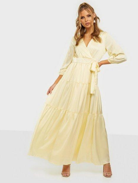 Y.A.S Yaslumen Wrap 3/4 Maxi Dress - Show Langærmede kjoler Transparent Yellow