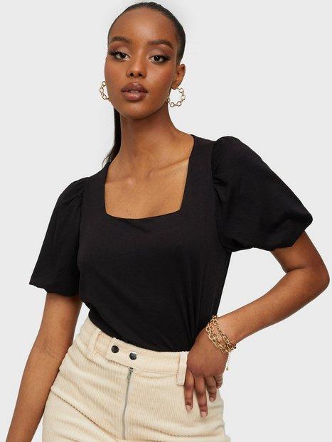 Jacqueline de Yong Jdydicte S/S Puff Sleeve Top Jrs Hverdagsbluser Black