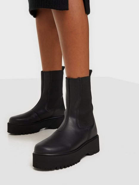 NLY Shoes Clean Ankle Boot Chelsea boots Sort
