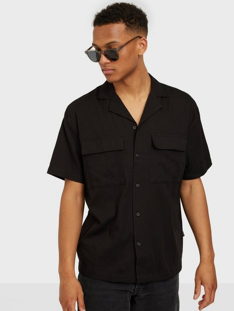 Dr Denim Madi Pocket Shirt Skjorter Black