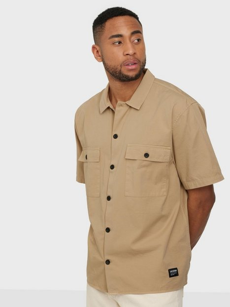 Dr Denim Joel Worker Shirt Skjorter Sand