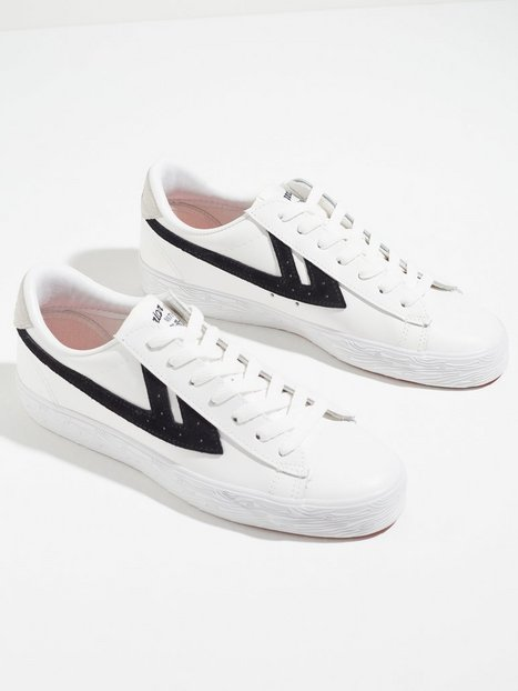 Warrior Shanghai Dime Leather Sneakers White/Black