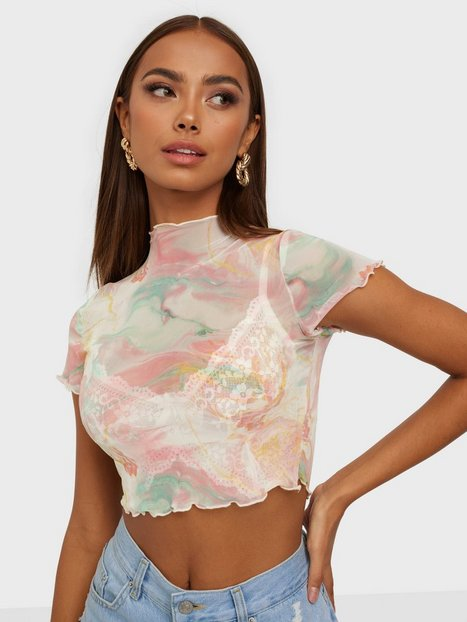 NLY One Mesh Cropped Top T-shirts