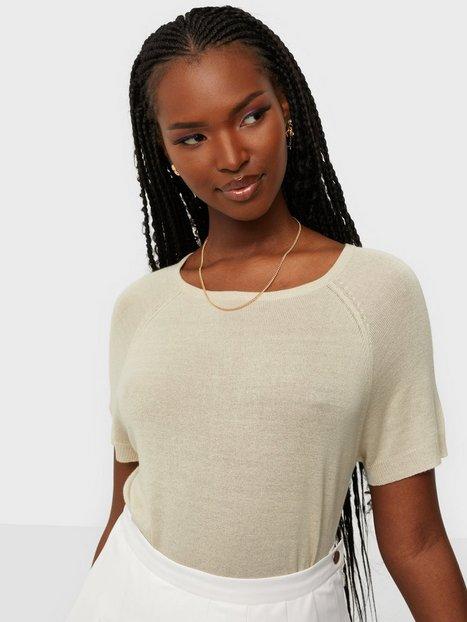 Object Collectors Item Objangie S/S Knit Pullover PB9 Strikkede trøjer Sandshell