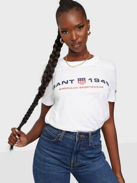 Gant D2.Gant Retro Shield Ss T-Shirt T-shirts White