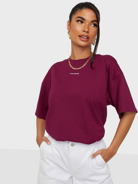 Calvin Klein Jeans Micro Branding Loose Tee T-shirts Purple