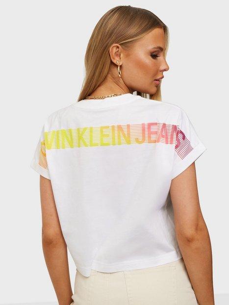 Calvin Klein Jeans Degrade Back Logo Tee T-shirts White