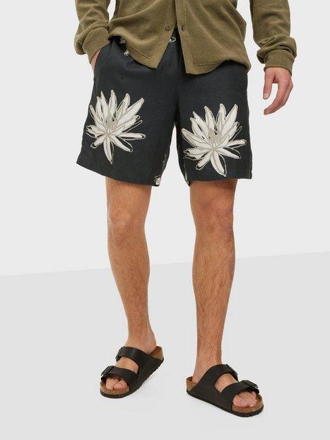 Only & Sons Onskaj Viscose Twill Aop Shorts Shorts Dark Navy