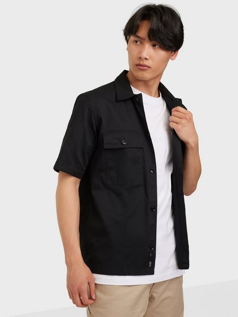 Only & Sons Onsnoar Compact Ss Tc Twill Overshi Skjorter Black