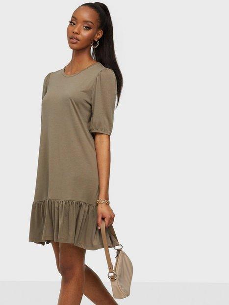 Jacqueline de Yong Jdyurban Gabriella S/S Dress Jrs Loose fit dresses Toasted Coconut Melange