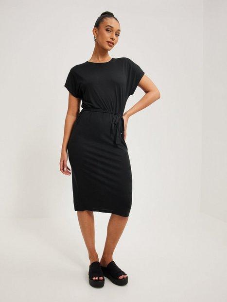 Jacqueline de Yong Jdyurban Gabriella S/S Belt Dress J Loose fit dresses Black Melange