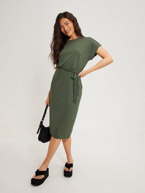 Jacqueline de Yong Jdyurban Gabriella S/S Belt Dress J Loose fit dresses Kalamata Melange