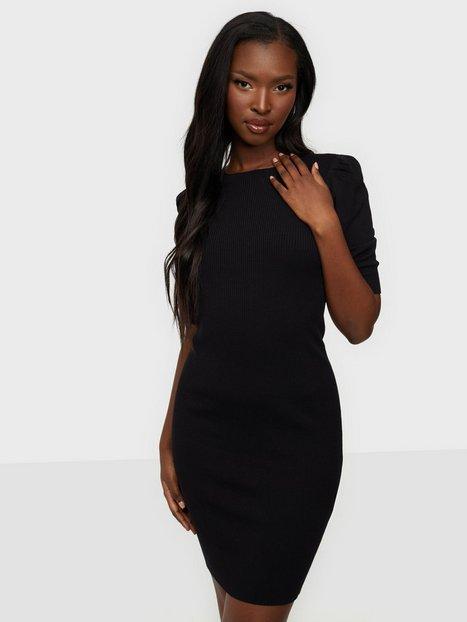 Jacqueline de Yong Jdykady S/S Dress Knt Tætsiddende kjoler Black