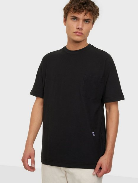 Selected Homme Slhrelaxalbion Ss O-Neck Tee G T-shirts & undertrøjer Black