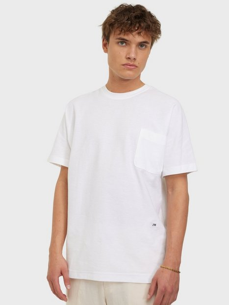 Selected Homme Slhrelaxalbion Ss O-Neck Tee G T-shirts & undertrøjer Bright White
