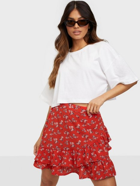 Vero Moda Vmsaga Hw Frill Skirt Wvn Ga Mini nederdele Goji Berry Eliana