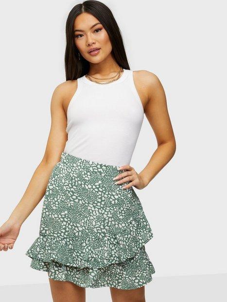 Vero Moda Vmsaga Hw Frill Skirt Wvn Ga Mini nederdele Laurel Wreath Danna